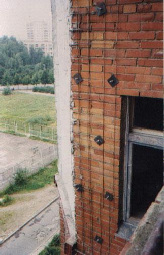 Усиление стен сооружения
