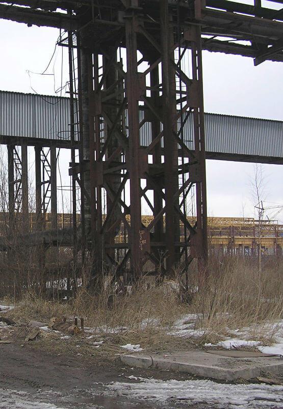Комплекс испытаний металлических конструкций сооружения