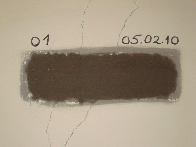 Замеры раскрытия трещин по установленным маякам